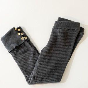 Carter's Gray Ribbed Leggings 3T